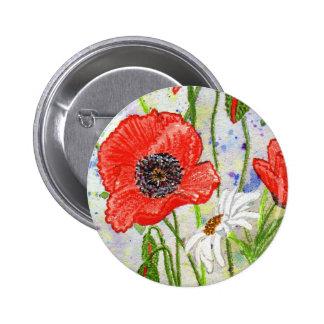 'Poppies' Button