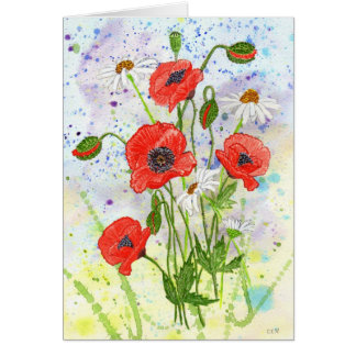 'Poppies' Card