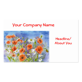 'Poppies n Daisies' Profile Card Business Cards