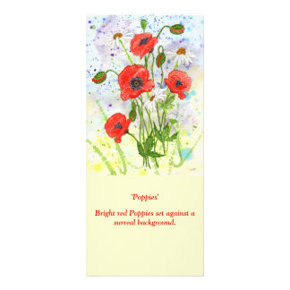 'Poppies' Rack Card