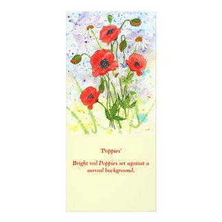 'Poppies' Rack Card