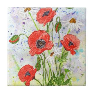 'Poppies' Tile