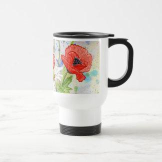 'Poppies' Travel Mug