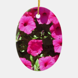 Popping Pink Pansies Ceramic Oval Decoration
