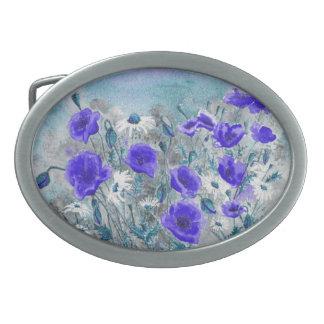 'Poppy Blue' Belt Buckle