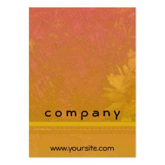 Poppy Daisy Hosta Red Orange Pack Of Chubby Business Cards