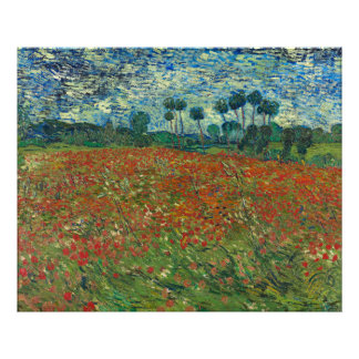 Poppy Field by Vincent Van Gogh Photograph