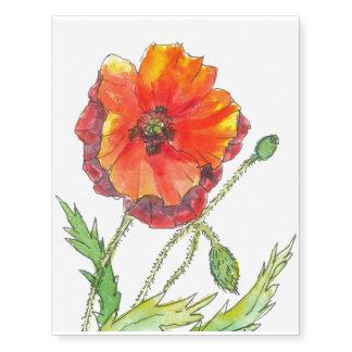 Poppy Flower spring painting