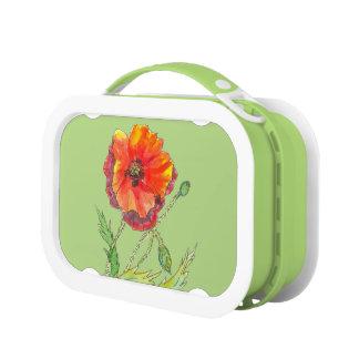 Poppy Flower spring painting Lunch Box