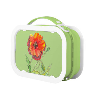 Poppy Flower spring painting Lunch Boxes