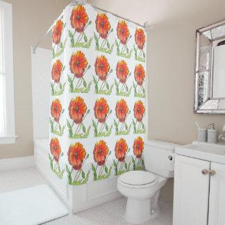 Poppy Flower spring painting Shower Curtain