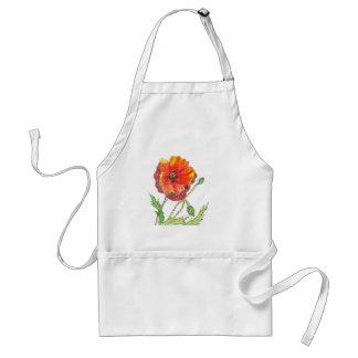 Poppy Flower spring painting Standard Apron