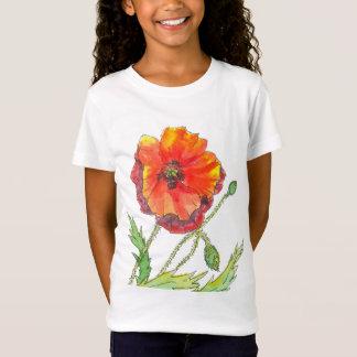 Poppy Flower spring painting T-Shirt