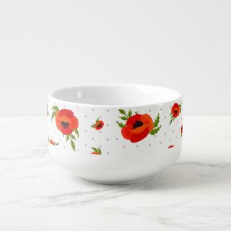 Poppy Flowers Soup Mug
