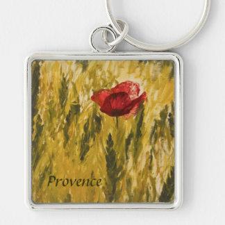 Poppy in the Wheat Field Key Ring