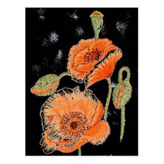 Poppy Midnight Postcard