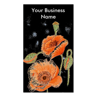 'Poppy Midnight' Profile Card Pack Of Standard Business Cards