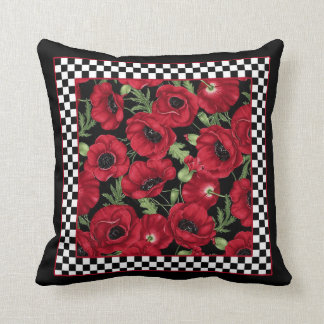 Poppy Pillow with Jester Check