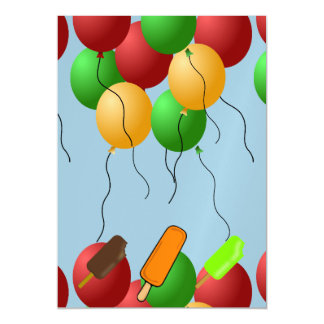 Popsicle icecream cold candy dessert party shower magnetic card