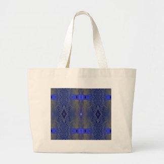 Popular Royal Blue Tribal Pattern Jumbo Tote Bag