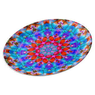 Porcelain Plate kaleidoscope Diamond Flower G408