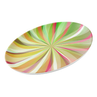 Porcelain tray - Abstract Porcelain Serving Platter