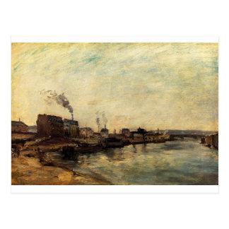 Port de Grenelle by Paul Gauguin Postcard