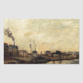 Port de Grenelle by Paul Gauguin Rectangular Sticker