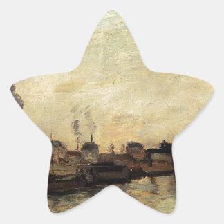 Port de Grenelle by Paul Gauguin Star Sticker