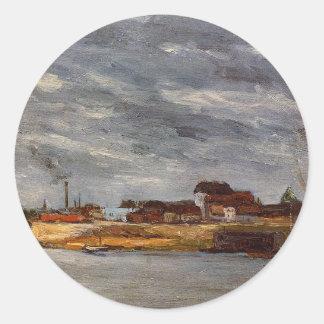 Port de Javel by Paul Gauguin Round Sticker