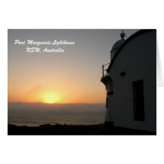 Port Macquarie Lighthouse, NSW, Australia Card