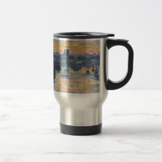 Port of Dieppe, Evening by Claude Monet Travel Mug