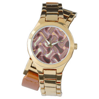 Port & Peach Women's Wraparound Gold Watch