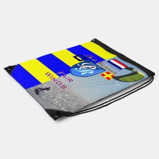 Port Richman Nautical Kitesurfing Netherlands Flag Drawstring Bag
