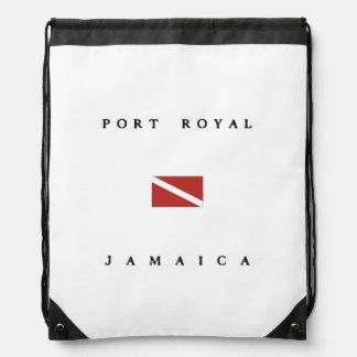 Port Royal Jamaica Scuba Dive Flag Drawstring Bag