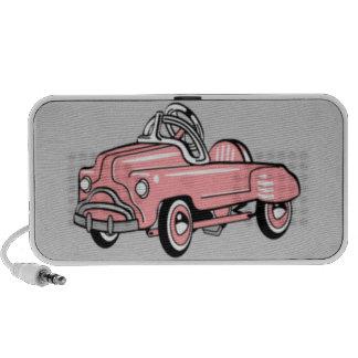 Portable Speaker - Retro Pink Pedal Car OrigAudio