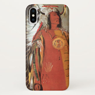 Portait of Indian Chief Mato-Tope by George Catlin iPhone X Case