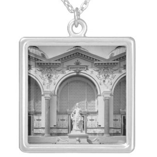 Portico and fountain at the Universal Silver Plated Necklace