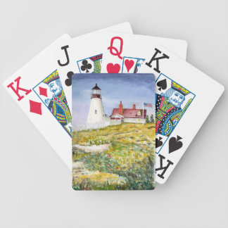 Portland Head Lighthouse Maine Watercolor Painting Poker Deck