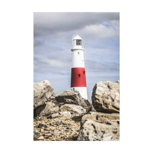 Portland Island Lighthouse Dorset England Stretched Canvas Prints