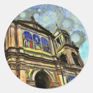 Porto Alegre's church Classic Round Sticker