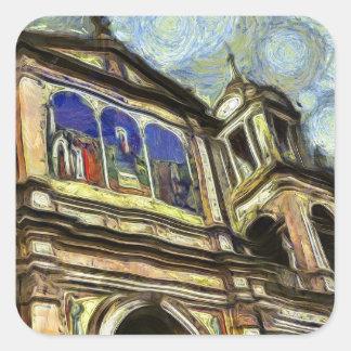 Porto Alegre's church Square Sticker