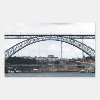 Porto Bridge Rectangular Sticker