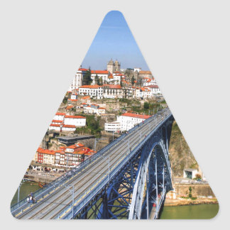 Porto, Portugal Triangle Sticker