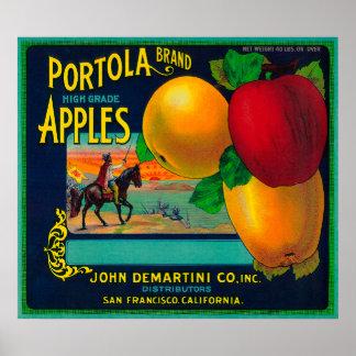 Portola Apple Crate Label Print