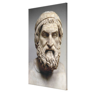 Portrait bust of Sophocles Canvas Print