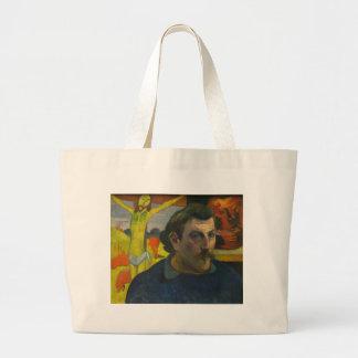 Portrait by Paul Gauguin, 1889 Canvas Bags