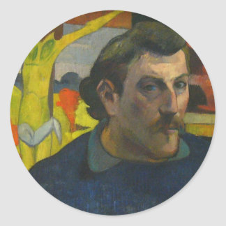 Portrait by Paul Gauguin, 1889 Classic Round Sticker