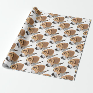 Portrait of a Beagle Head Wrapping Paper