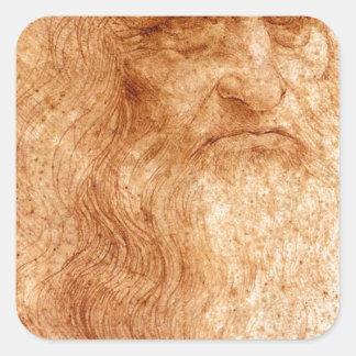Portrait Of A Bearded Man Square Sticker